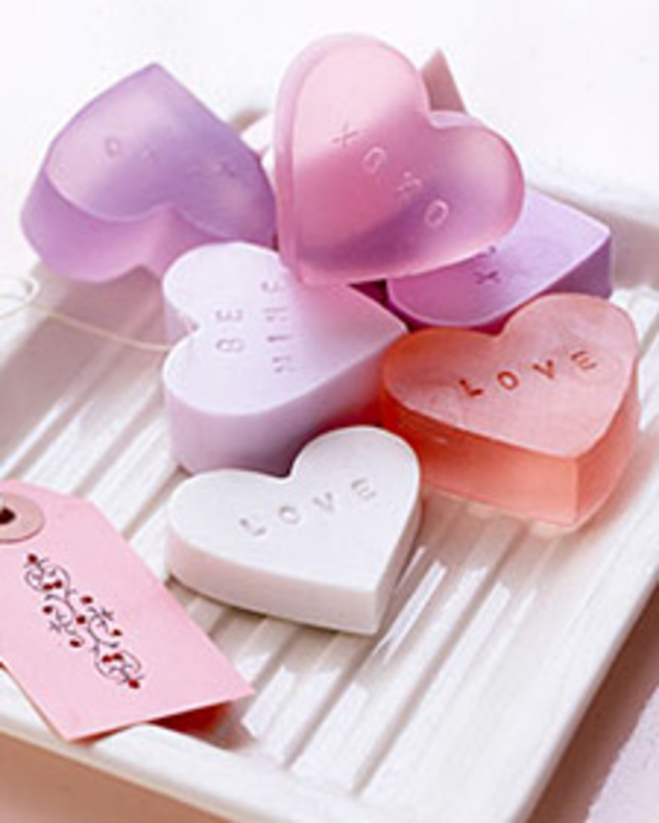 conversation heart soap