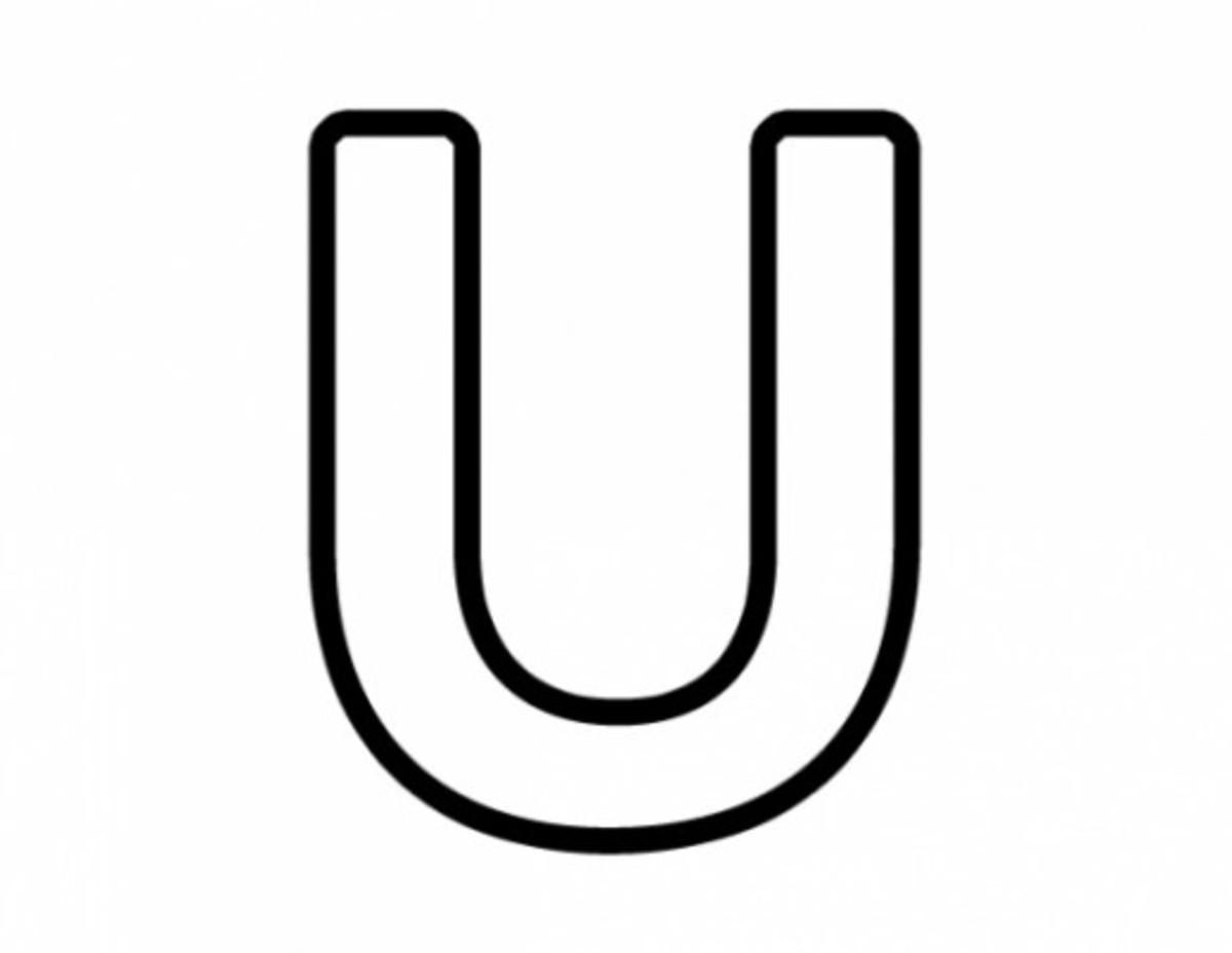 Alphabet Coloring Image U
