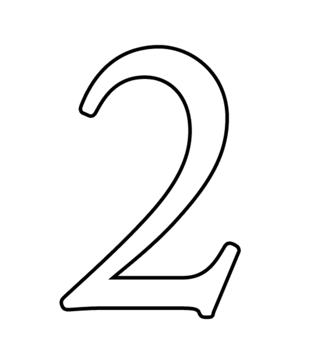 Number Zero Coloring Page Number Two Coloring Page