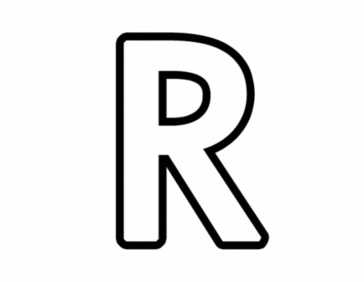 Alphabet Coloring Image R