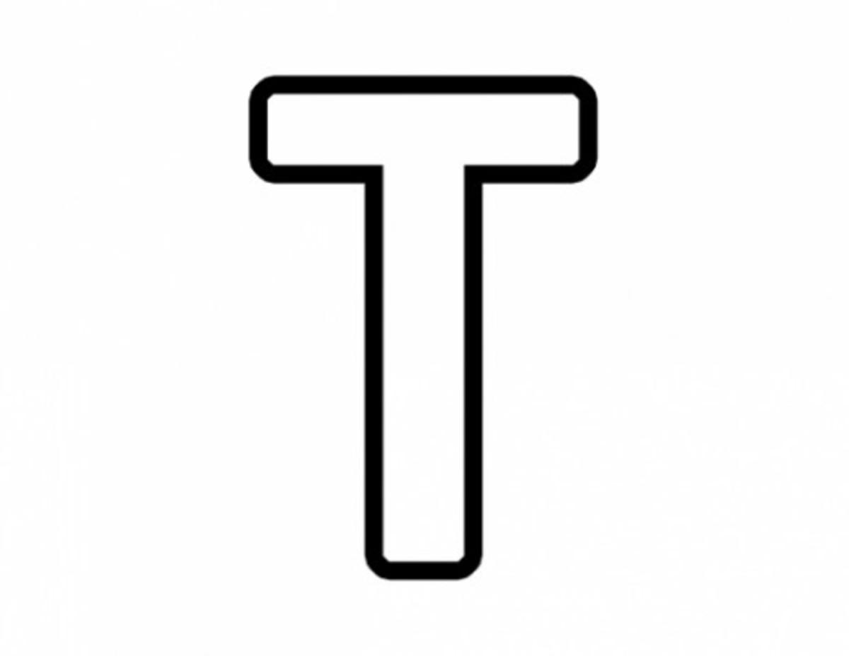 Alphabet Coloring Image T