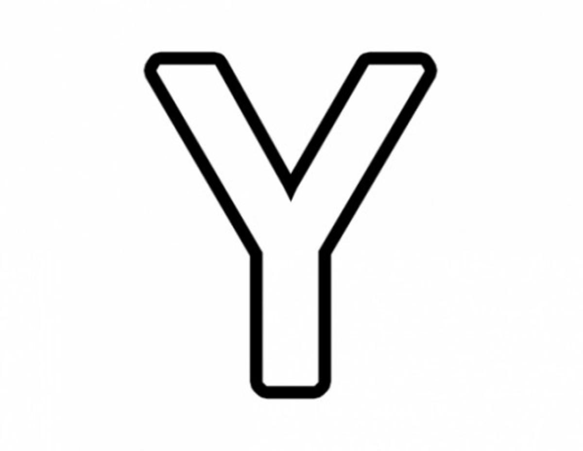 Alphabet Coloring Image Y
