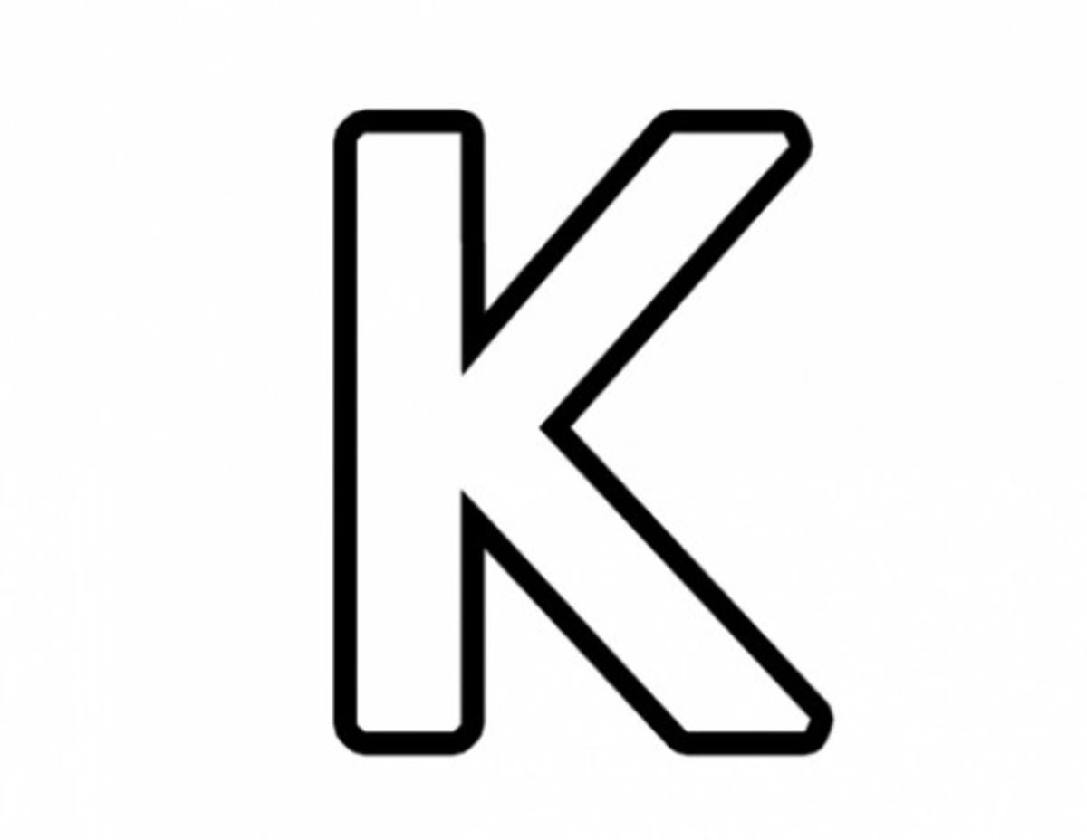Alphabet Coloring Image K