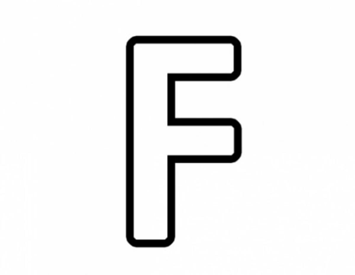 Alphabet Coloring Image F