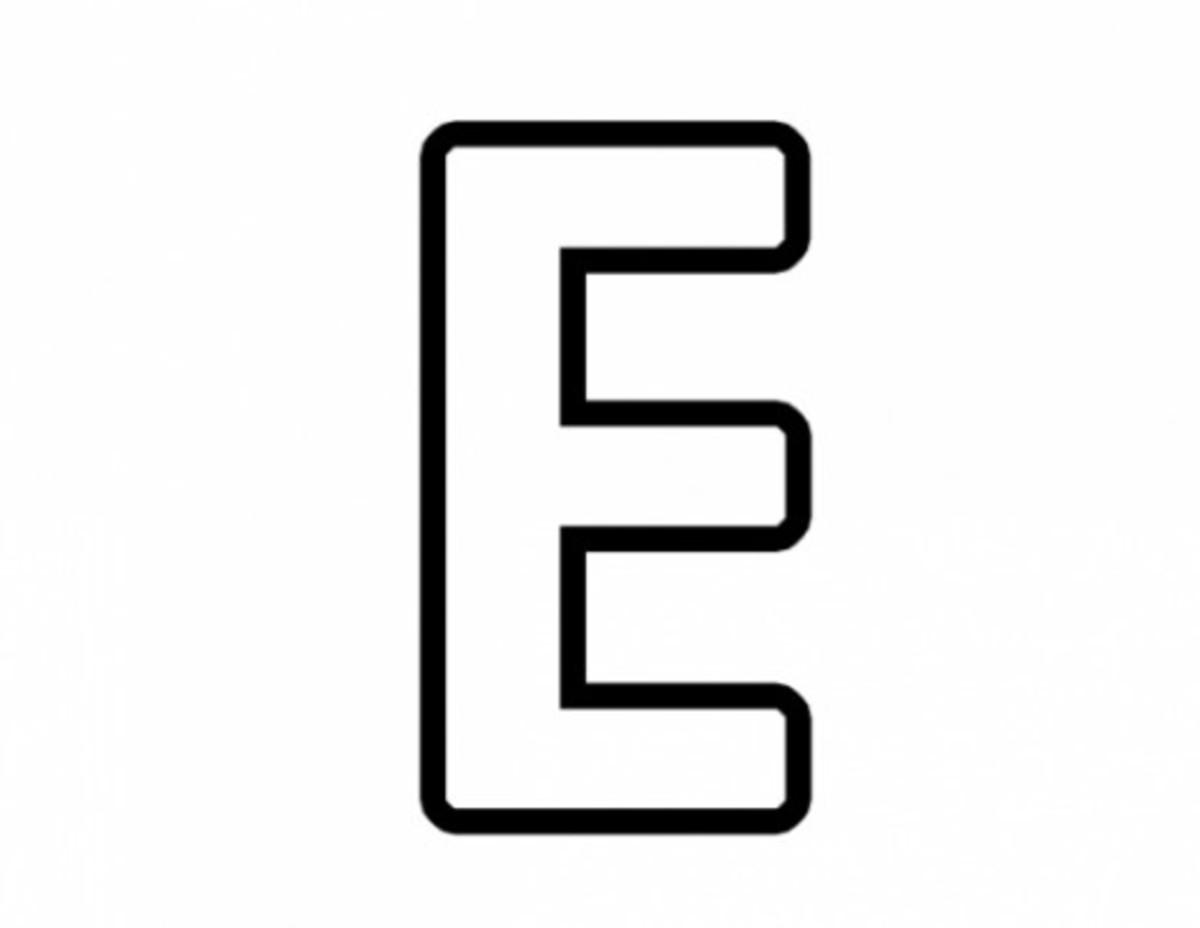 Alphabet Coloring Image E