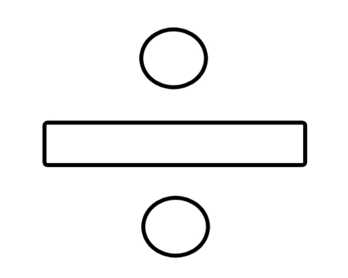 Division Symbol Math Coloring