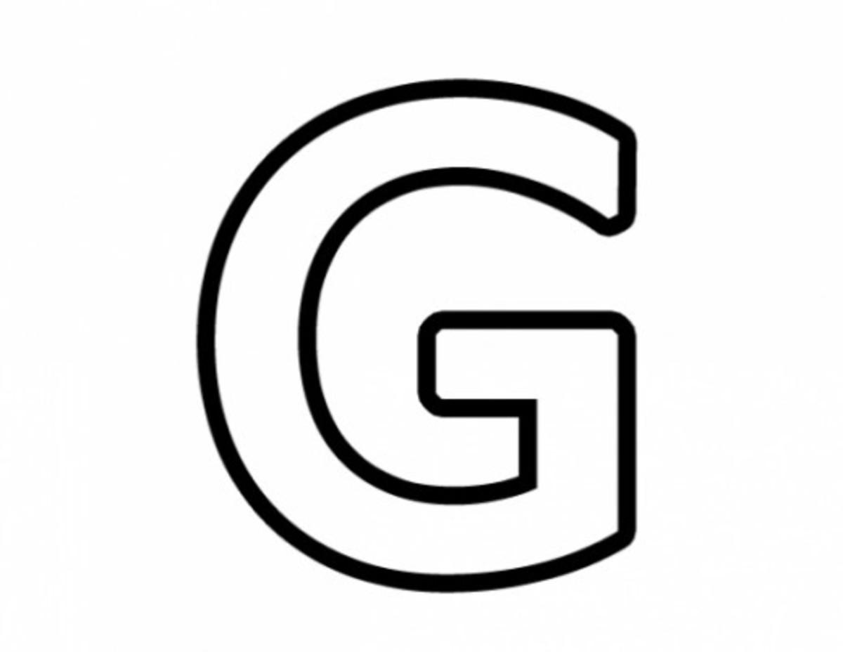 Alphabet Coloring Image G