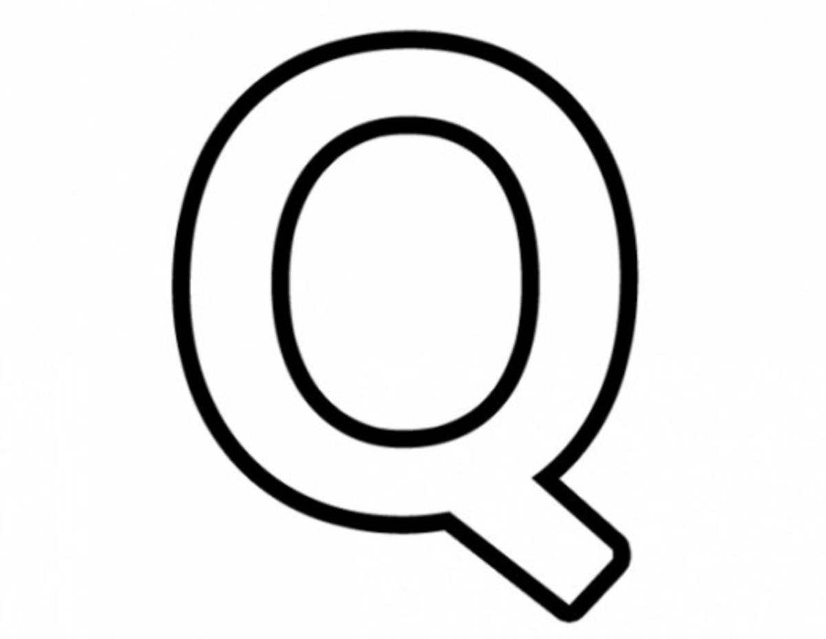 Alphabet Coloring Image Q