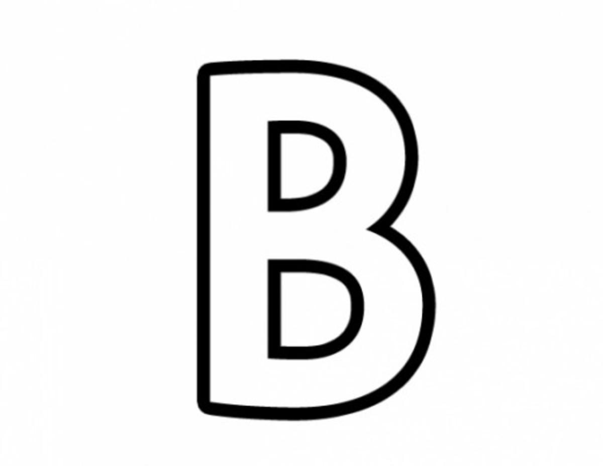 Alphabet Coloring Image B