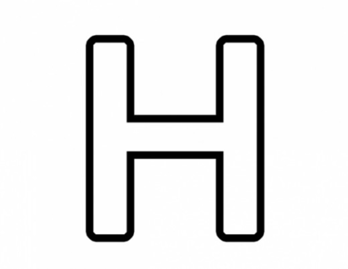 Alphabet Coloring Image H