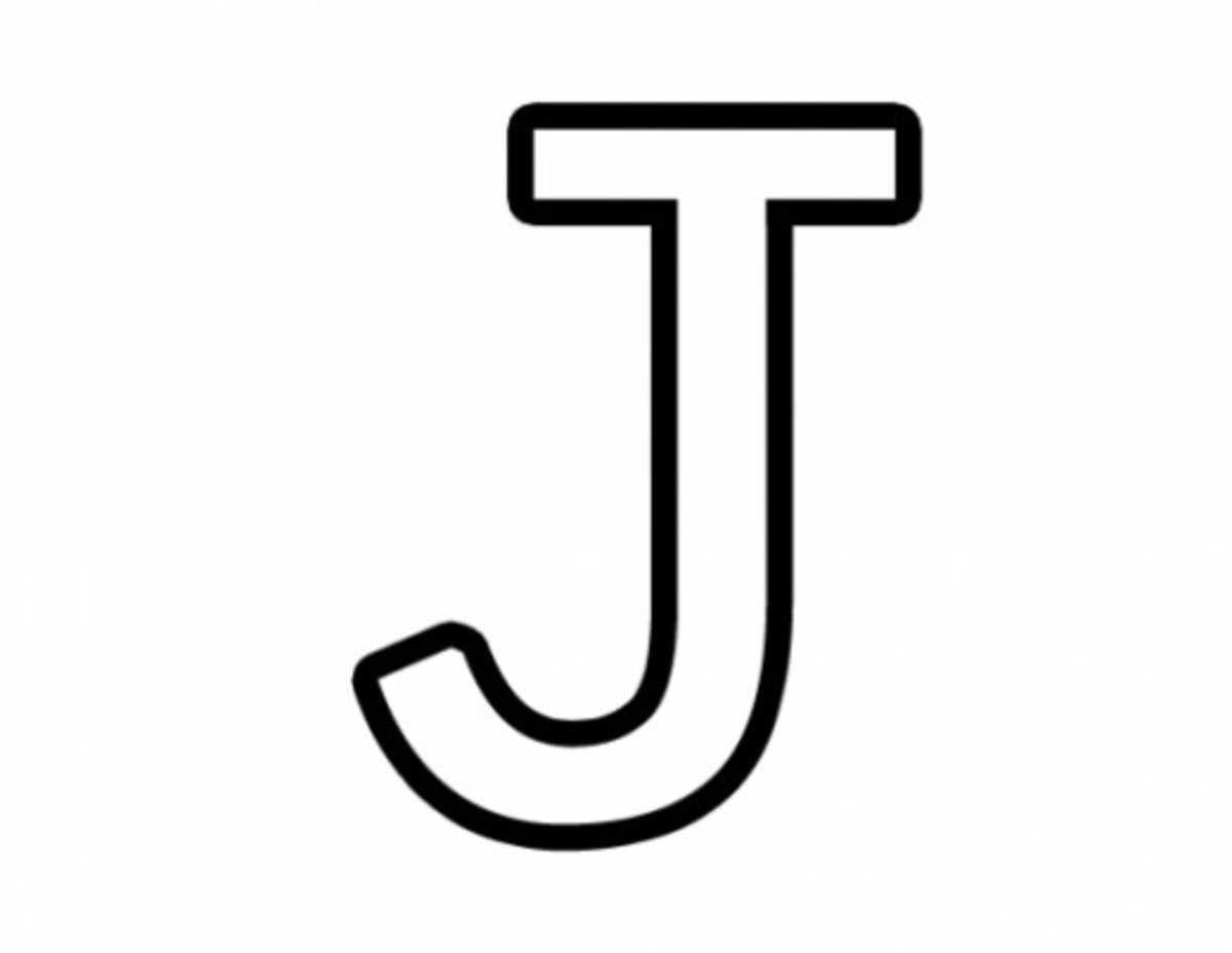 Alphabet Coloring Image J