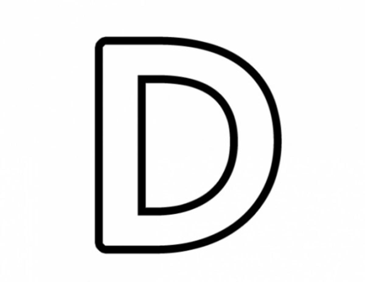 Alphabet Coloring Image D