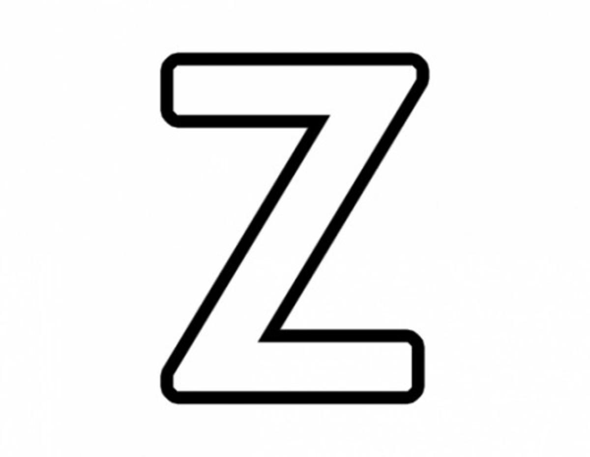 Alphabet Coloring Image Z
