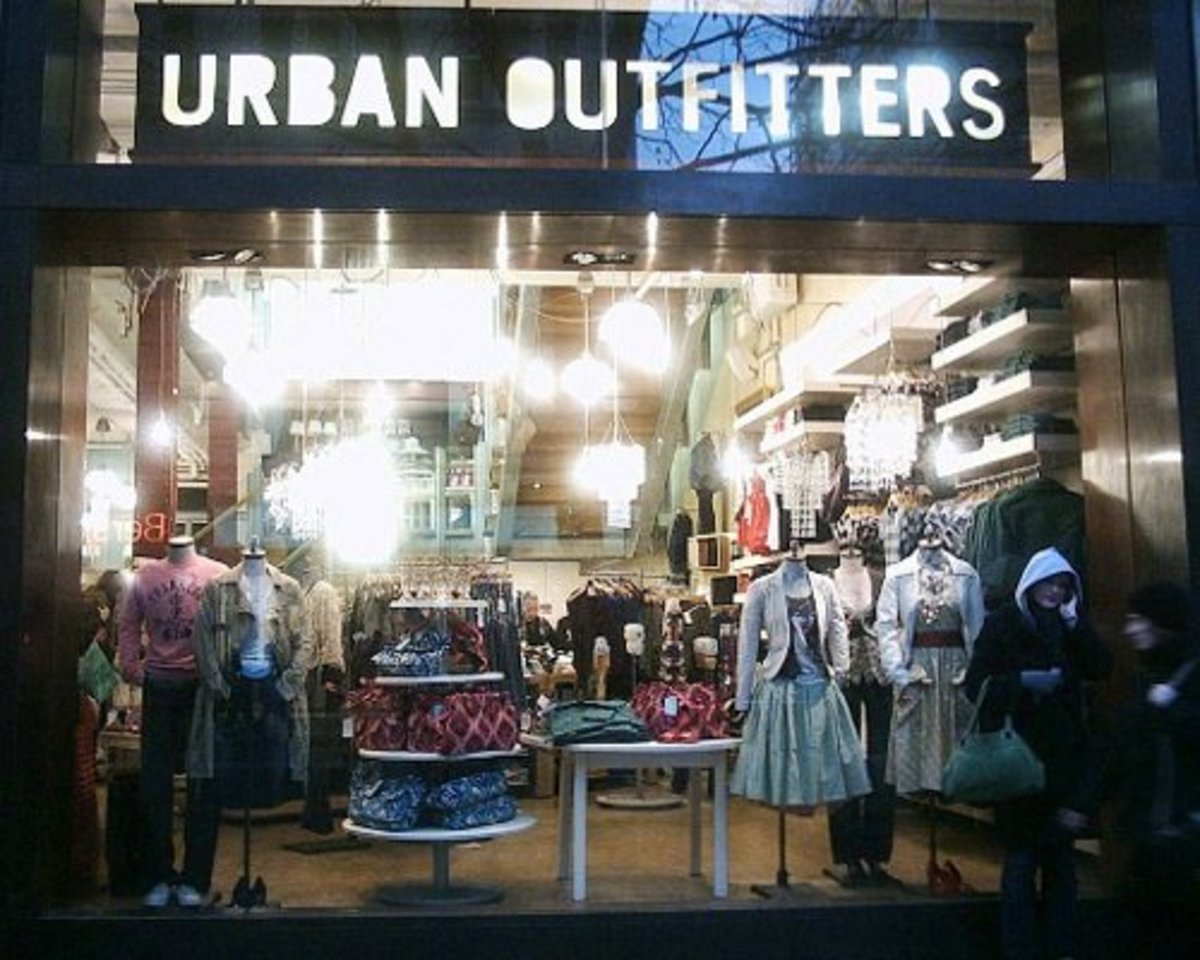 Clothes stores in the mall. Women clothing stores