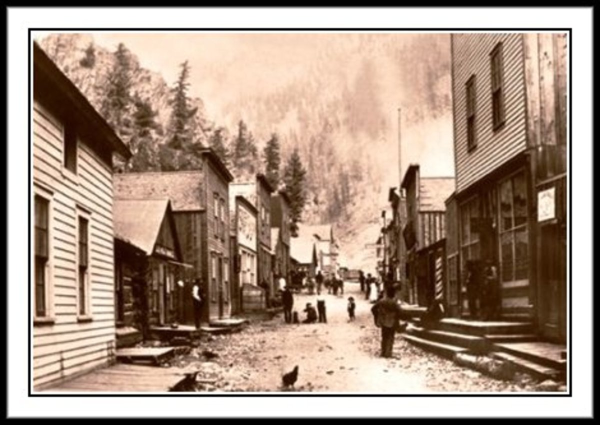 CREEDE, COLORADO, 1892. A Town Where Alice Once Gambled.