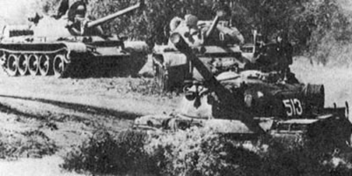 North Vietnamese T-54 tanks roll into action during the Easter Offensive. Image Credit: NATIONAL ARCHIVES
