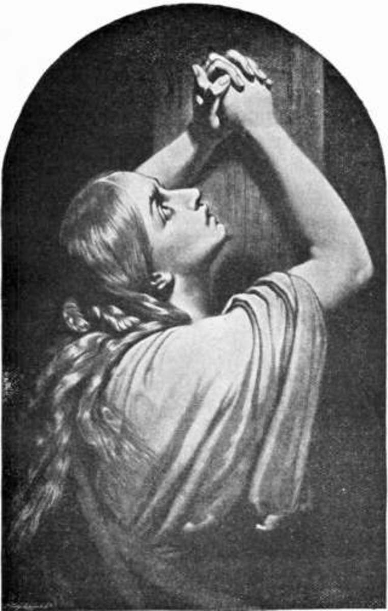 Mary Magdalene praying.
