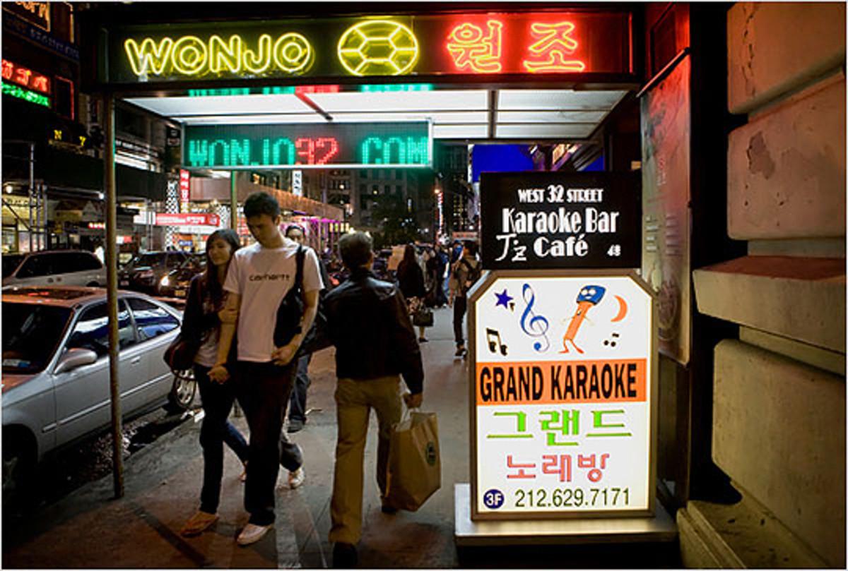 Koreatown in Manhattan New York