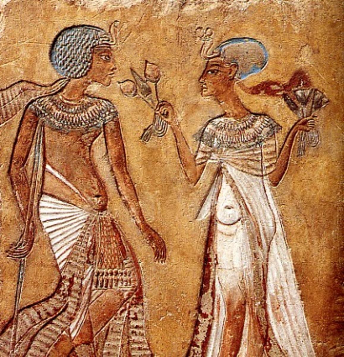 King Smenkhkare and Queen Merytaten