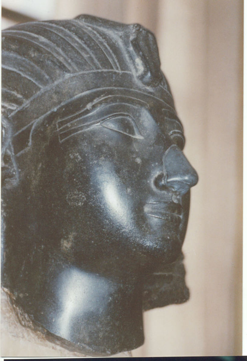 Thutmosis III. Ofiicials of an Italizn Museum decided to give Tutmosis III a new nose in a crude and outrageous attempt to change his racial appearance