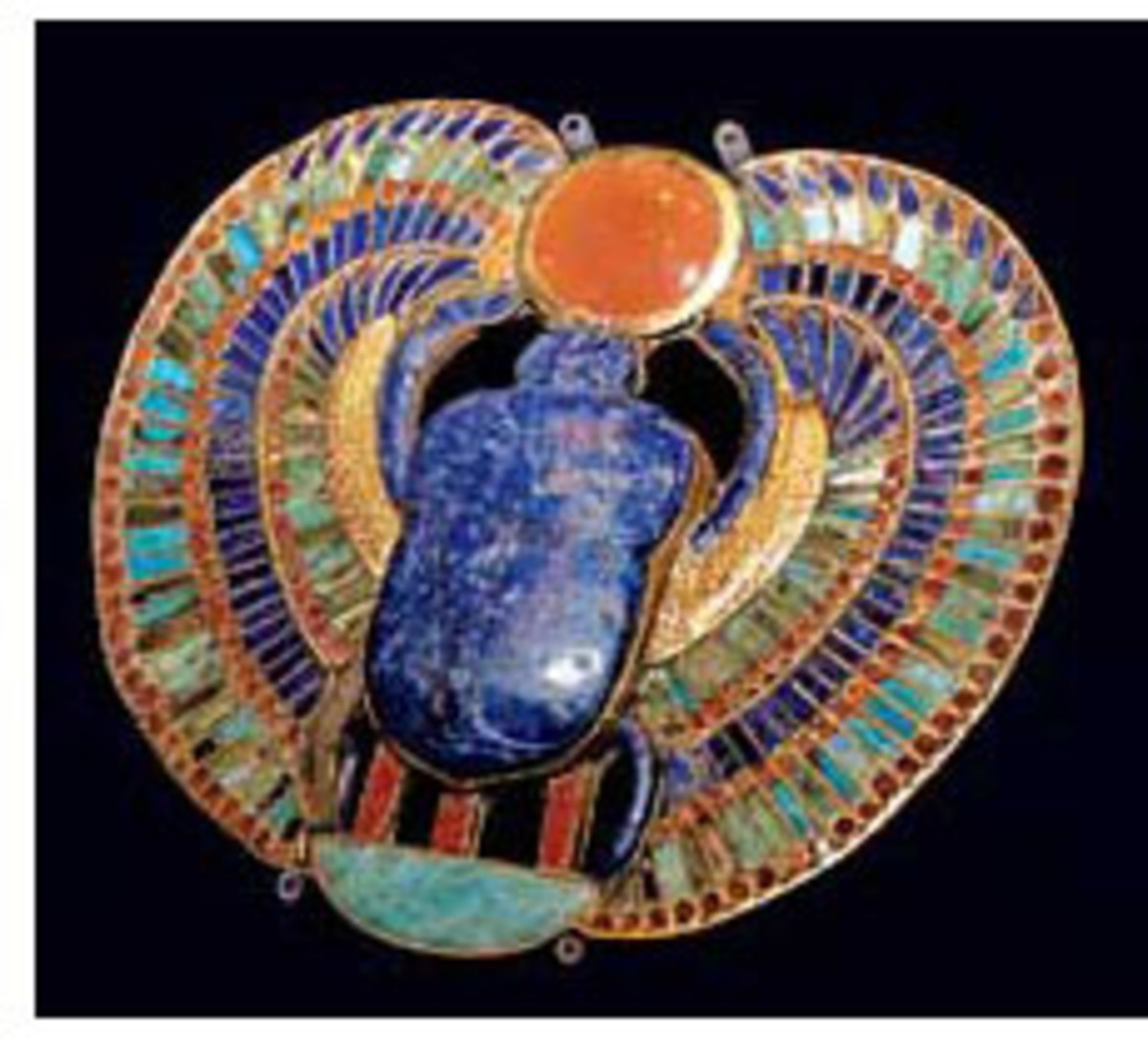 Beautiful inlaid pectoral of Tutankhamun spelling out his name