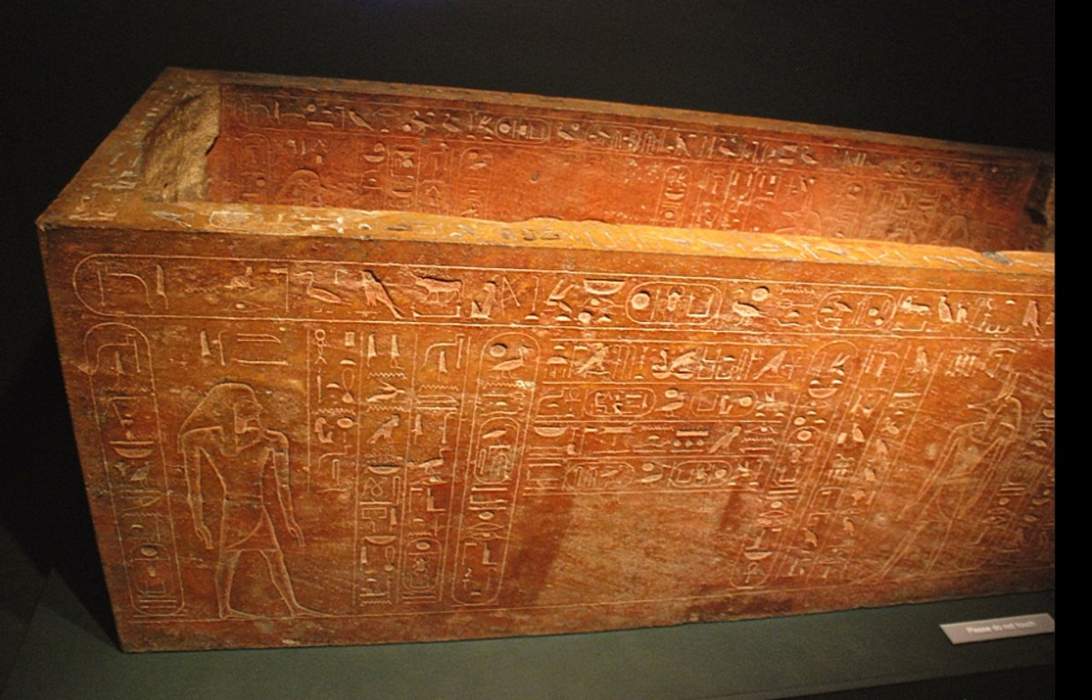 This beautiful quartzite sarcophagus was created by Hatshepsut and used to bury her late father, Thutmose I