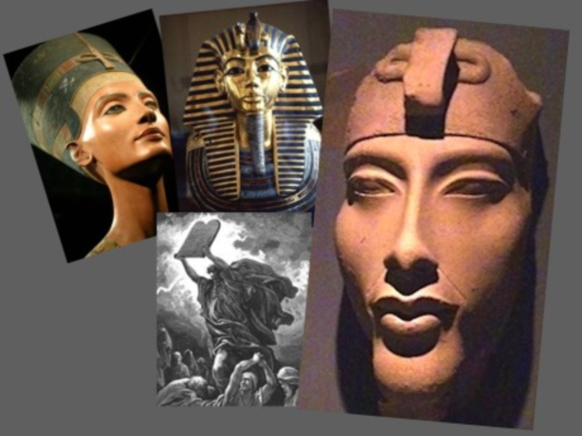 Akhenaten, Nefertiti, Tutankhanum and Moses