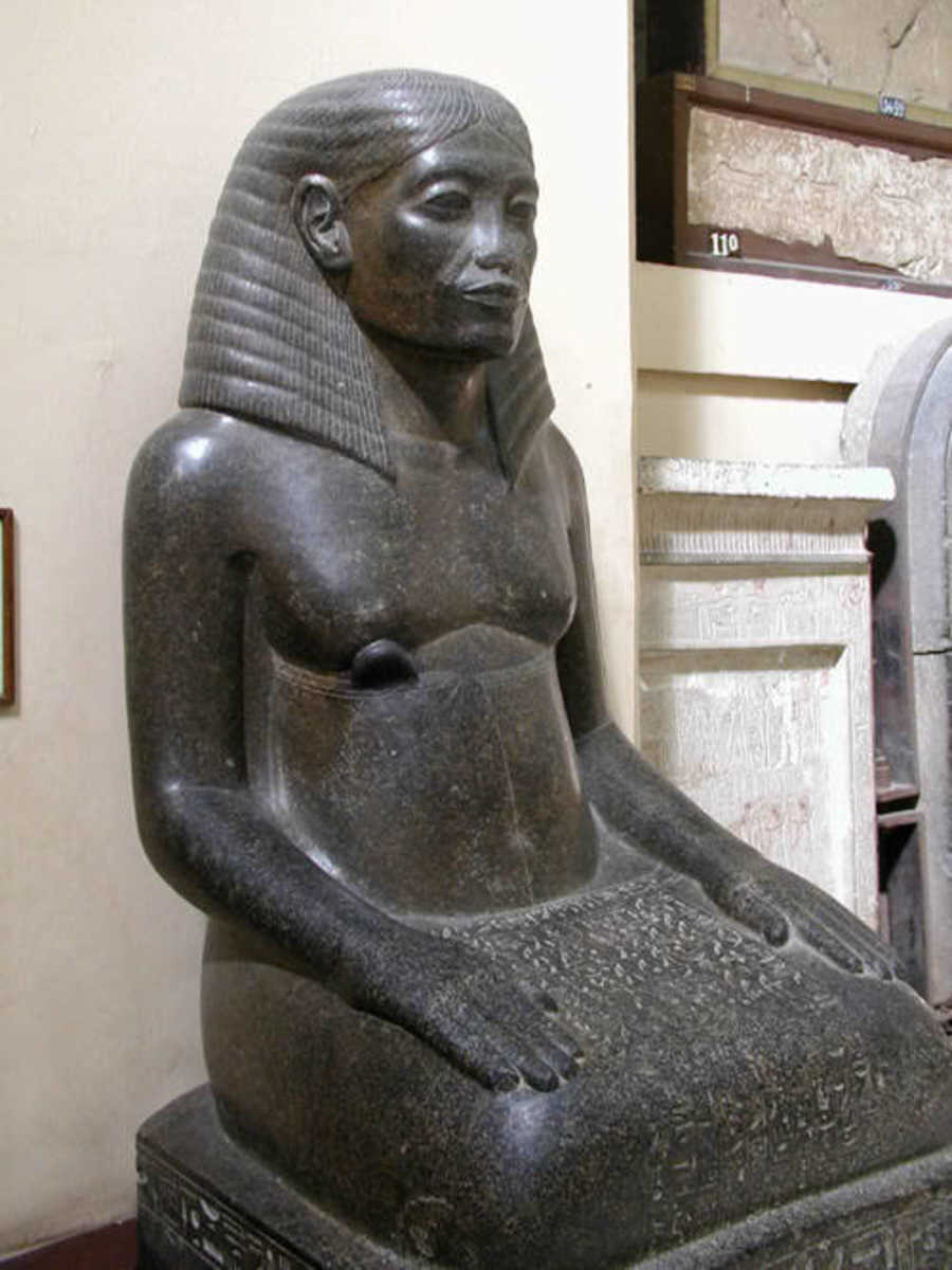 Amenhotep the son of Hapu and Amenhotep III's master Architect. Like the great 3rd Dynasty architect,  Imhotep, Amenhotep the son of Hapu was elevated to the status of God in the late Ptolemic period