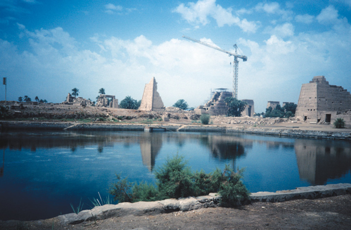 The Sacred Lake of the Temple of Karnak