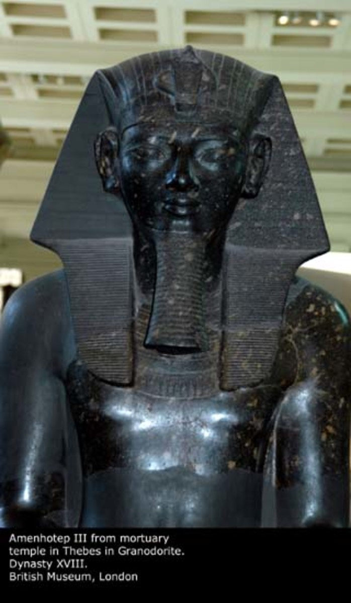 The chief Archeologist, Zahi Hawaas, said the black statue of Amenhotep III was made of Black Granite