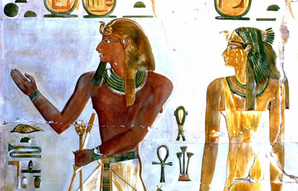 Tuthmosis I and his mother Senseneb