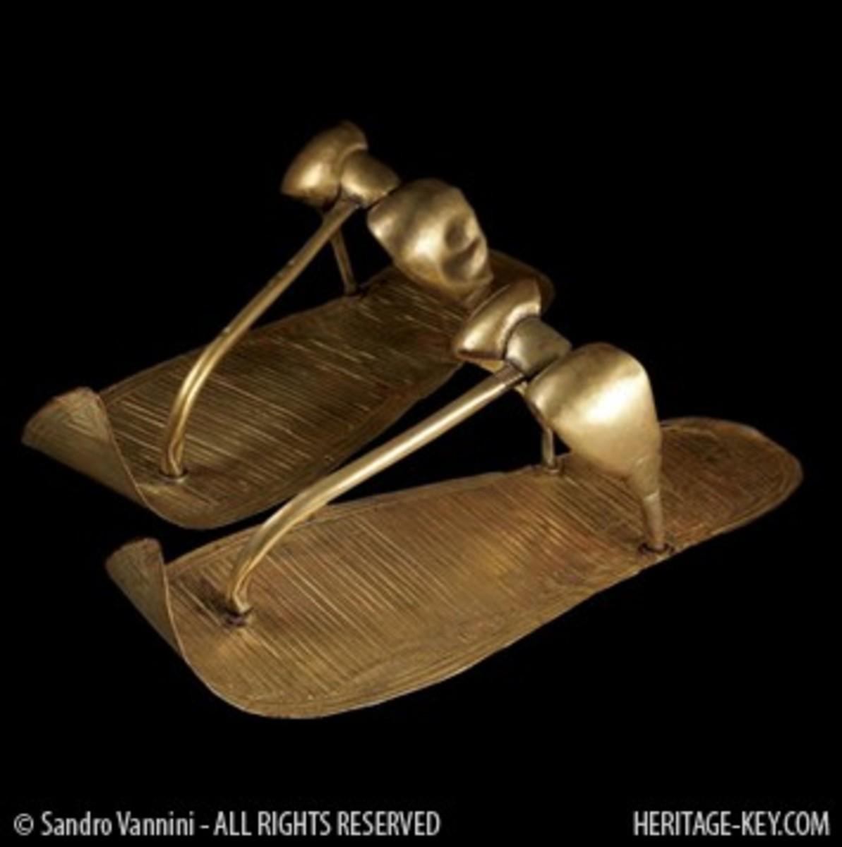 King Tut's Golden Sandals