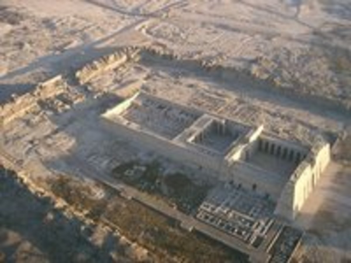 Malkata Palace; this is what is left of the palace of Amenhotep III