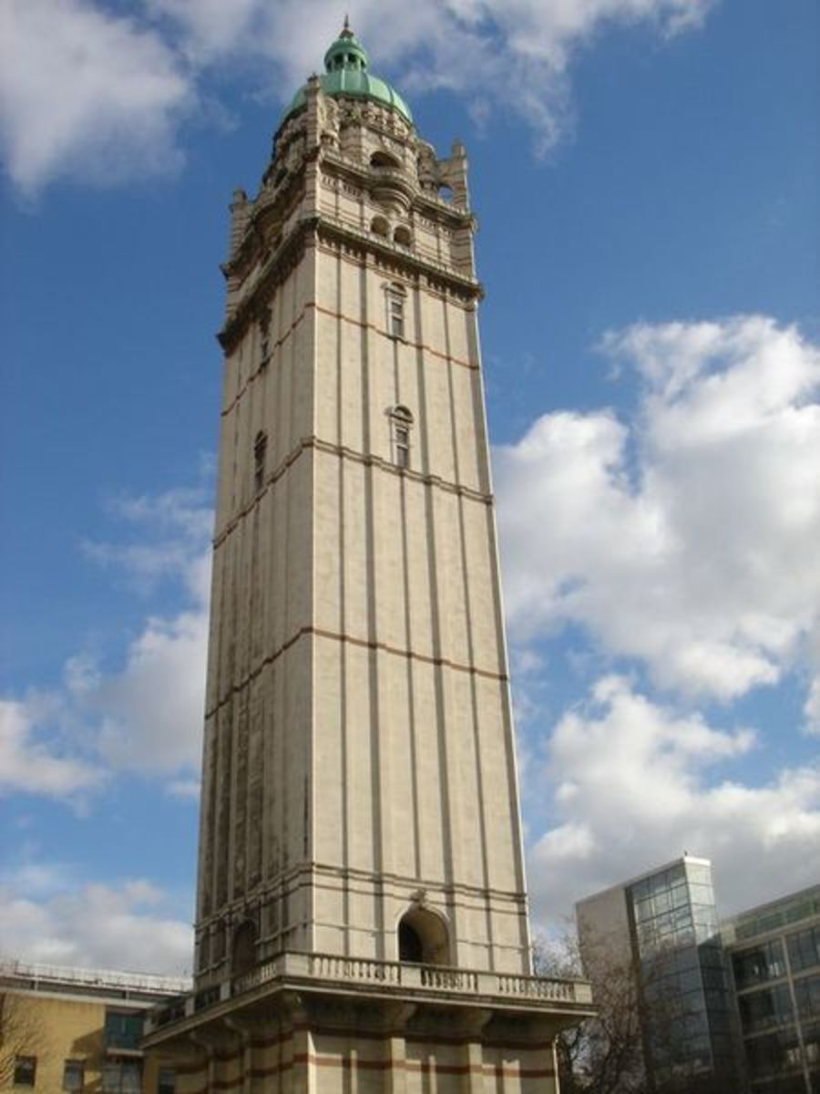 Queen's Tower, one of the few remaining landmarks from City and Guilds College as it was in Guy's day.  Image courtesy Wikimedia Commons.