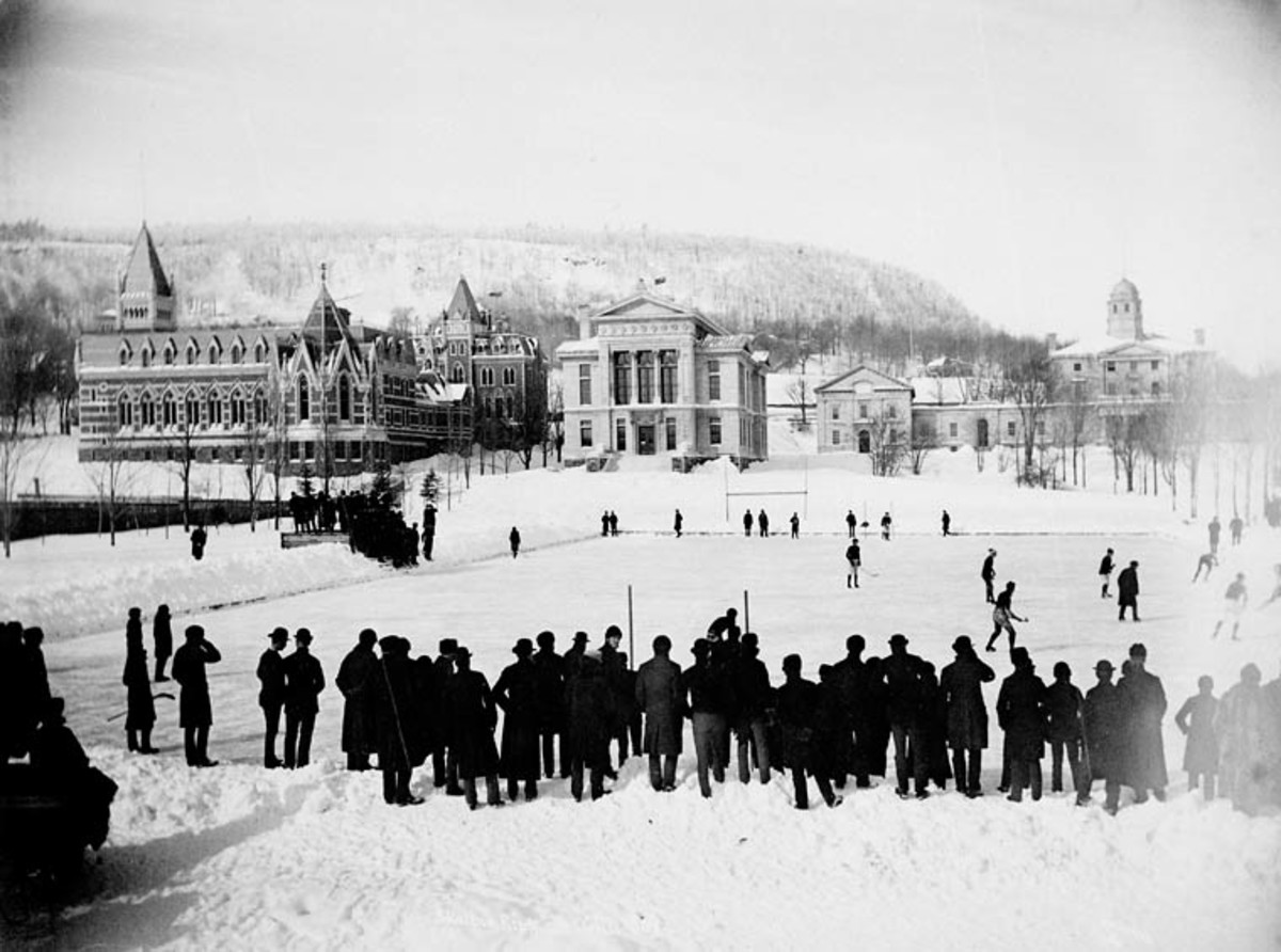 McGill University at play in 1884.