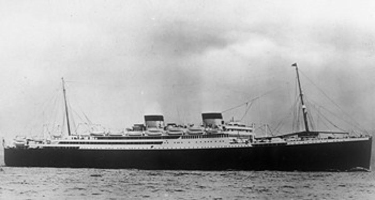 RMS Britannic in 1929.