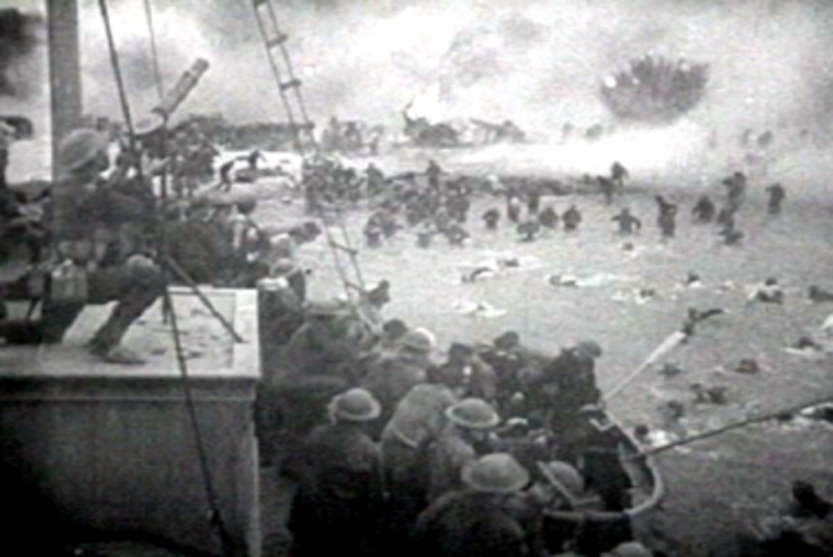 Scene from the evacuation at Dunkirk.
