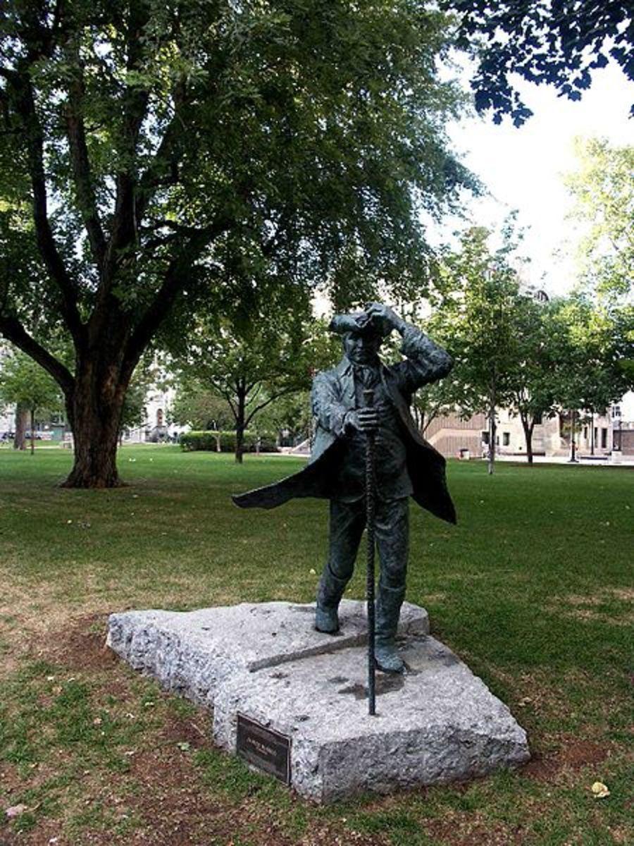 James McGill Statue, McGill University.  Image courtesy Gene Arboit & Wikimedia Commons.