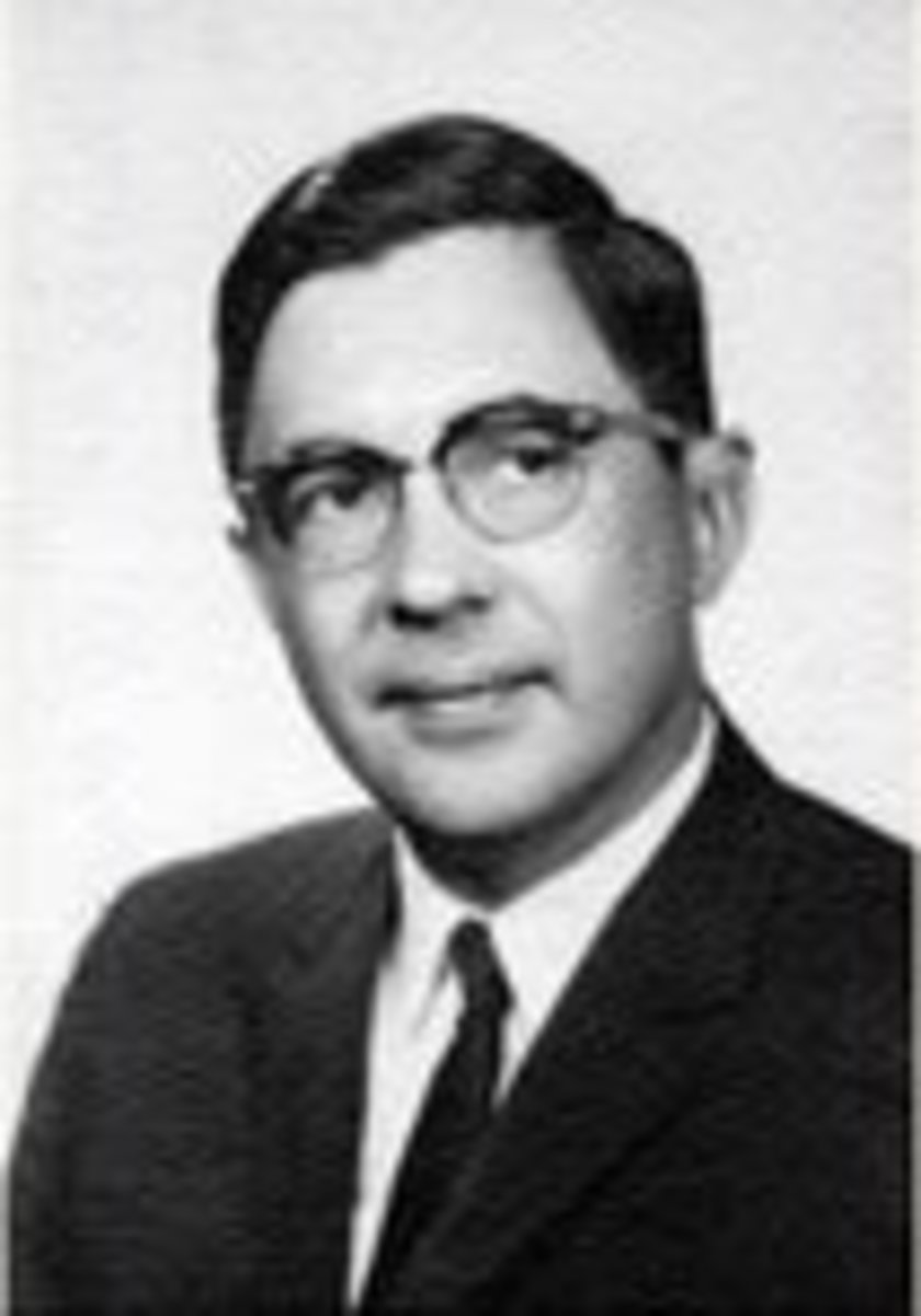 Gilbert Plass.  Image courtesy of American Institute of Physics.