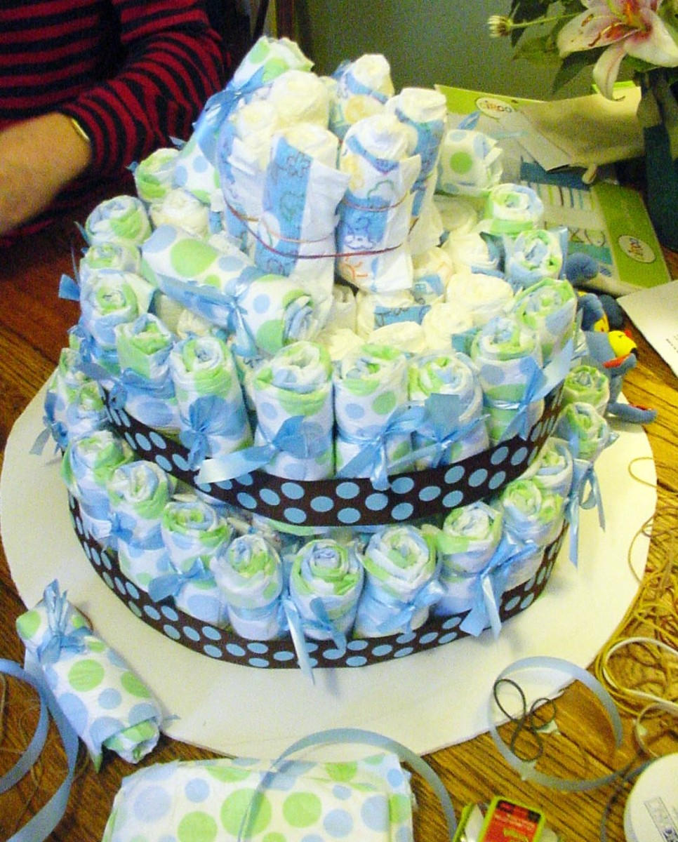 diapercakeafungiftanddecorationforababyshower