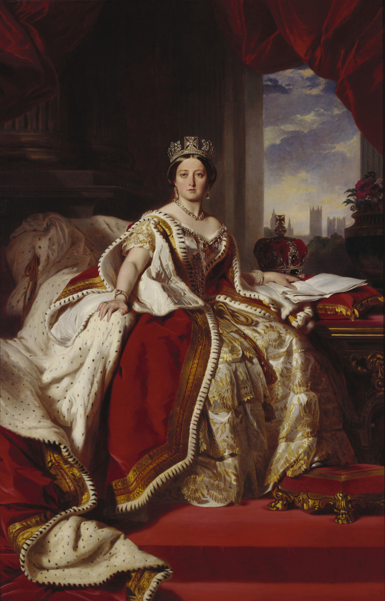 Queen Victoria in her coronation gown