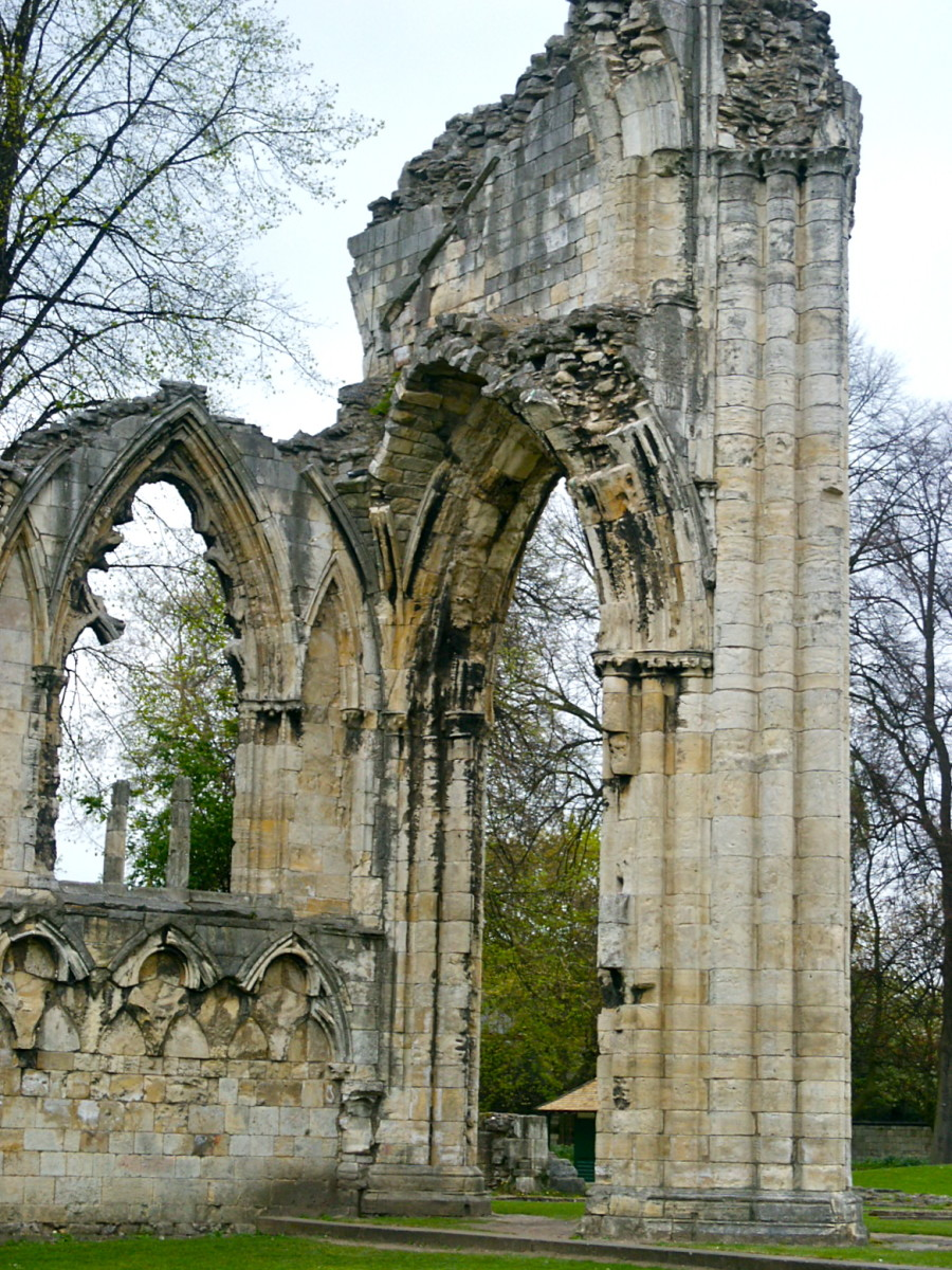 St. Mary's Abbey Ruins, York (photos copyright Jane Grey)
