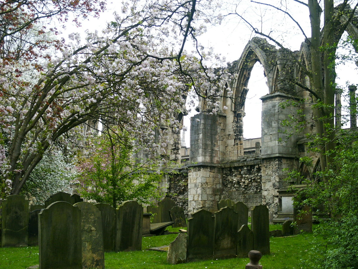 Old cemetery behind St. Mary's Abbey