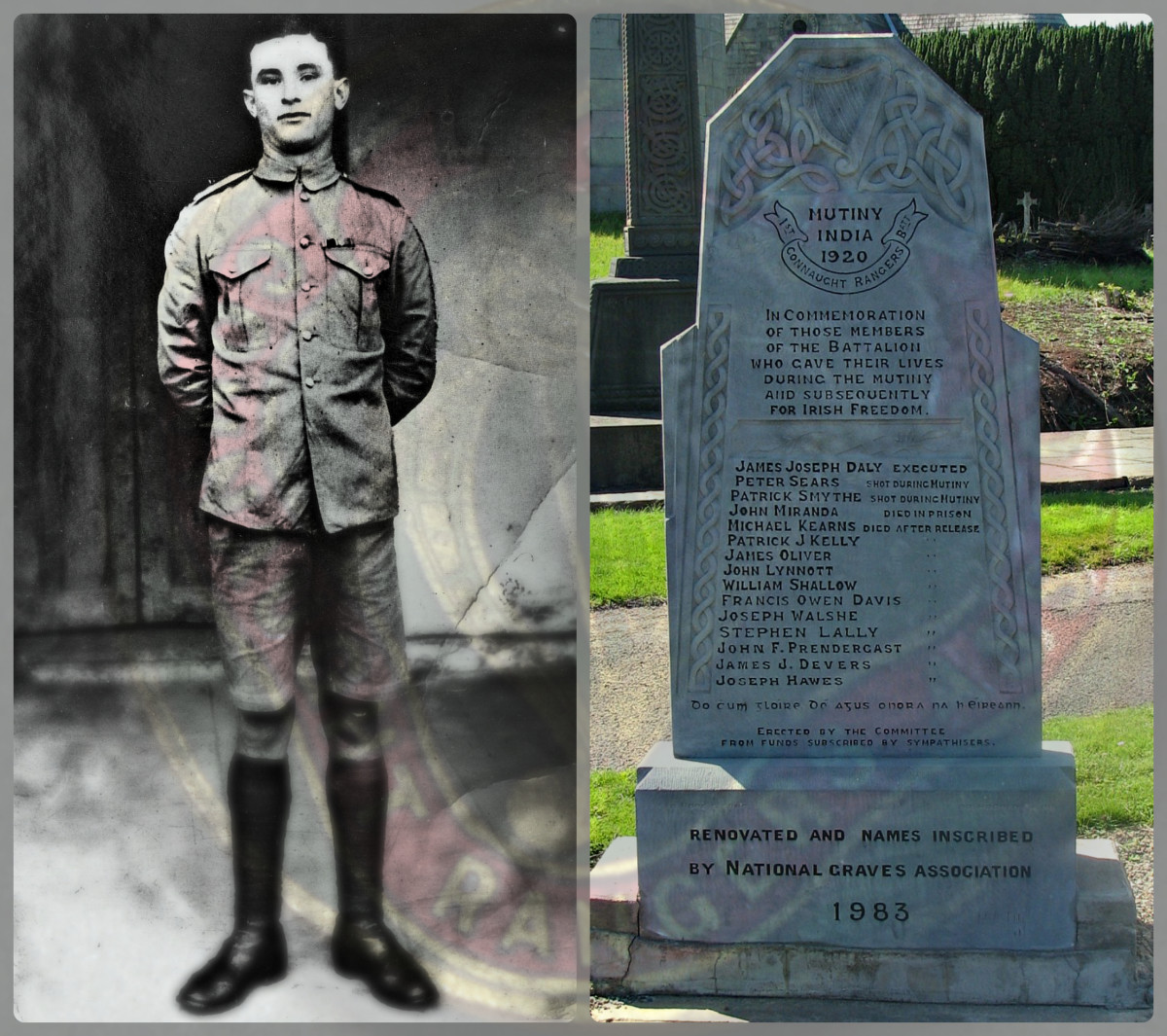 Learn why Irishman James Daly of the Connaught Rangers was executed in India in 1920 for mutiny.