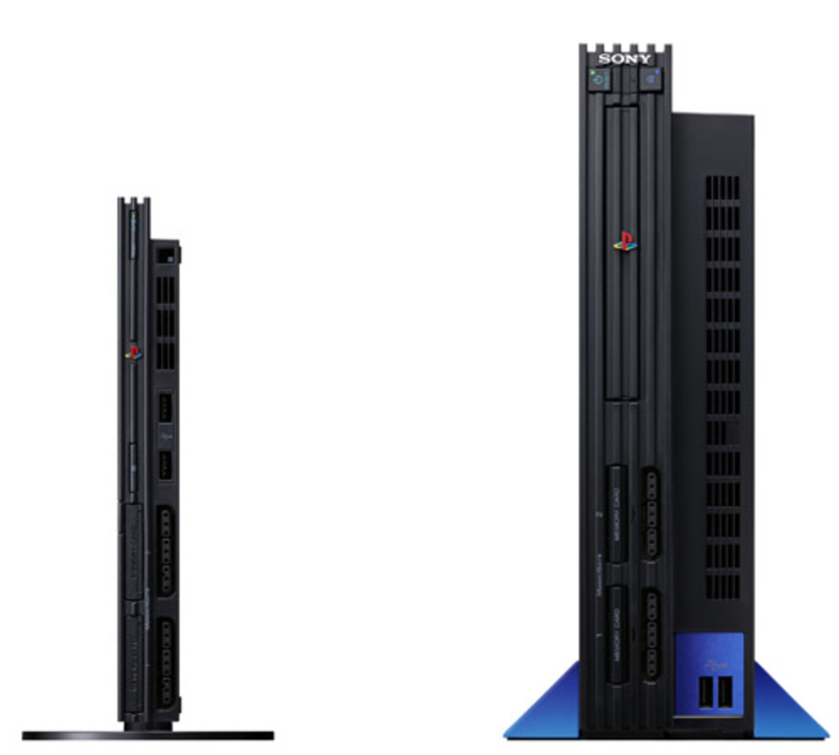 PS2 slim (left) vs. original  (right) http://www.amazon.com
