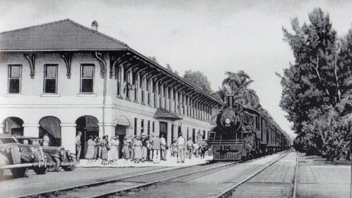 Railroad station of Boca Grande, circa 1926