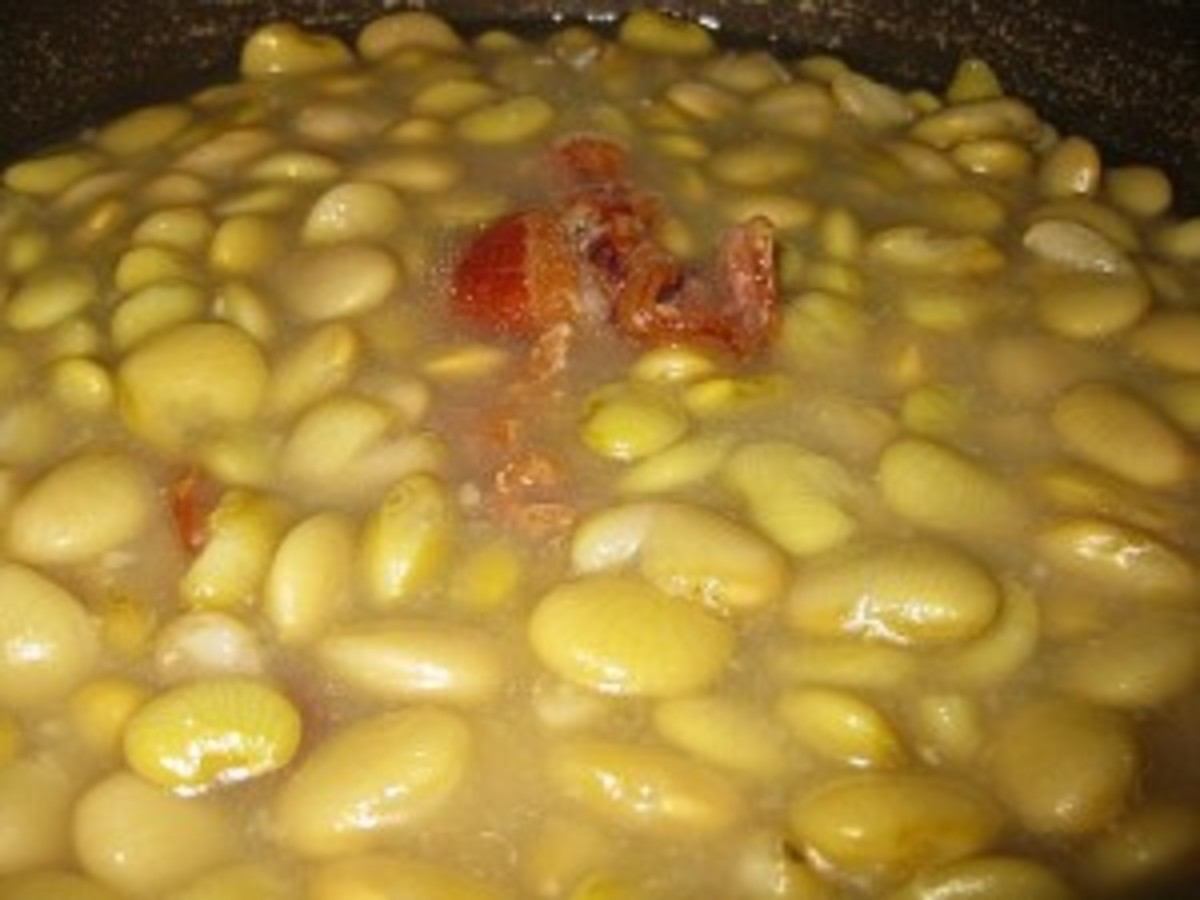 Southern Culinary Arts: Dried Lima Beans and Ham