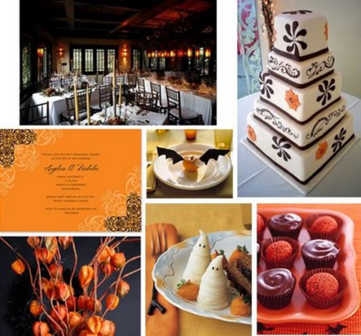 Elegant Halloween Wedding Décor