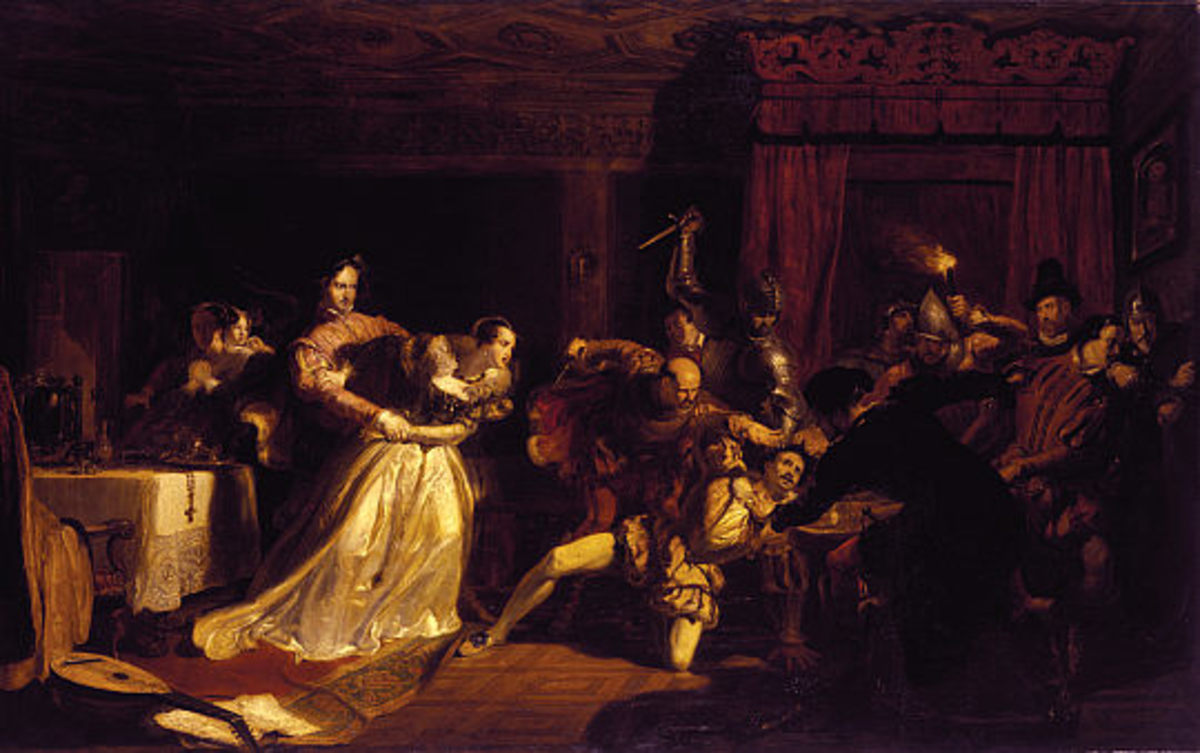 The Murder of David Rizzio by William Allen (1782-1850). Photo courtesy of wikimedia.org.