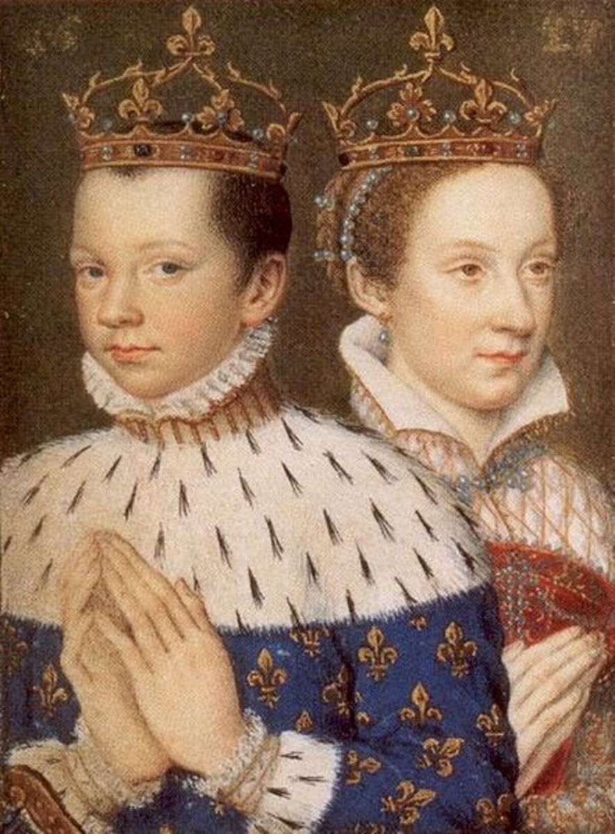 King Francis II and his wife Mary Stuart, Queen of France and Scotland c. 1558. Photo courtesy of wikimedia.org.